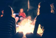 A group of people sitting around a campfire at Pigeon River Campground Family Camping, Go Camping, Outdoor Camping, Camping Survival, Survival Kit, College Packing Lists, College Hacks, College Life, How To Build A Fire Pit