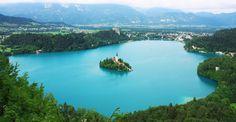 Lago de Bled y Castillo de Bled, Eslovania