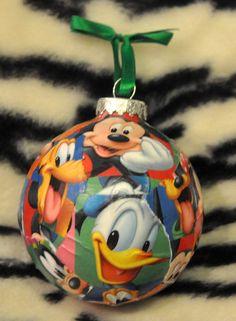 Diy mickey mouse christmas ornaments disney christmas decorations items similar to handmade large disney christmas ornament with mickey mouse minney goofy donald duck and pluto solutioingenieria Gallery