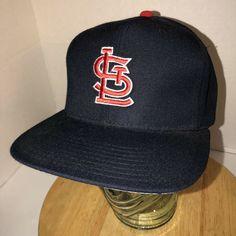 7445f1ccc8d Details about Vintage ST LOUIS CARDINALS 80s Wool New Era Pro Model  Baseball Hat Cap Snapabck