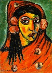 Spanish Woman with Red Veil, circa 1912 - Alexei Jawlensky - The Athenaeum