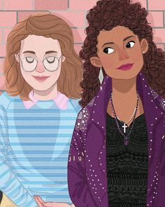 Yorkie & Kelly in Black Mirror S3E4 San Junipero; Anyone know who made this illustration???