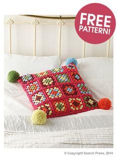 Granny Square Cushion Pattern | Deramores