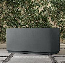 Fusion Collection Tall Rectangular Planters 11 75 Quot Wide