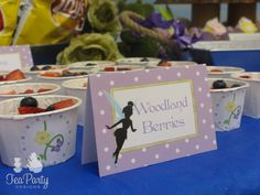 Tinkerbell Garden Fairy Party Food Tents  - Tea Party Designs