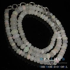 "56 Cts 15"" Natural Ethiopian Welo Fire Opal Smooth Rondelle Beads Necklace 8997"