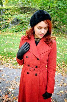 40s style autumn coat by Cherise at VintageFollies