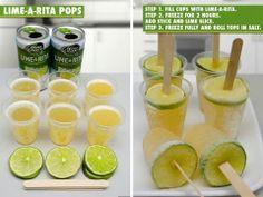Lime-a-rita pops