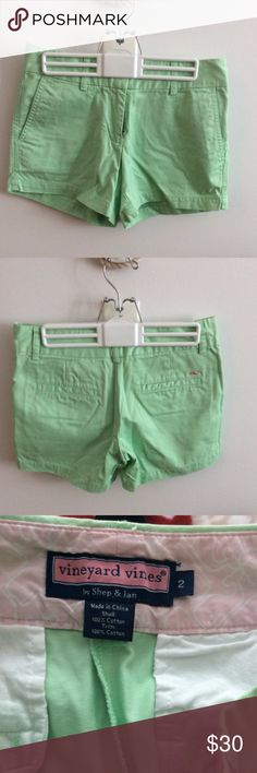 Vineyard Vines - Mint Shorts Mint colored Vineyard Vines shorts - Size 2 (true to size). Worn less than a handful of times! Great for Summer! Vineyard Vines Shorts