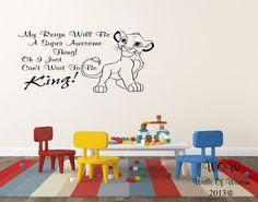 Lion King Simba Childrens Bedroom Wall Sticker / Wall Art Home Decor #WallsOfWisdom