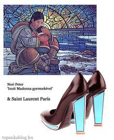 Painting by Nori Peter, shoes by Saint Laurent Paris