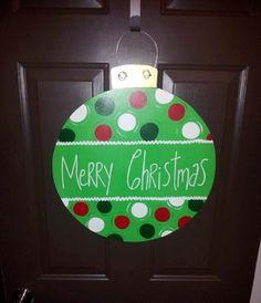 Christmas ornament door hanger. Merry Christmas. by createdtoenjoy, $33.00