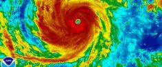 PHOTO: Super Typhoon Soudelor is seen in an enhanced infrared NOAA satellite image taken in the Western Pacific Ocean, August 4, 2015.