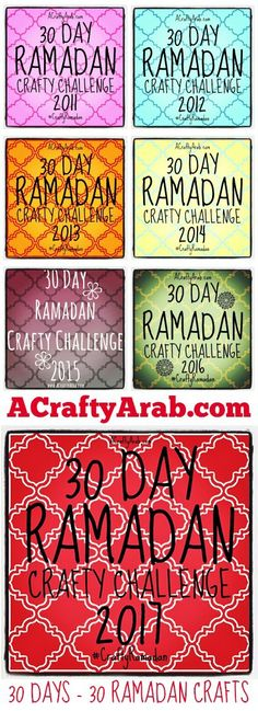 2017 Ramadan Crafts 30 Day Challenge {Resource}. Ramadan Mubarak! May you experience a generous Ramadan 2017.  Ramadan Mubarak means Blessed Ramadan in Arabic. Ramadan is the 9th month of the Islamic calendar and commemorated with daily fasting, extra prayers and alms giving. It is celebrated in a majority of the Arab world as the month the Quran, the holy book, was …