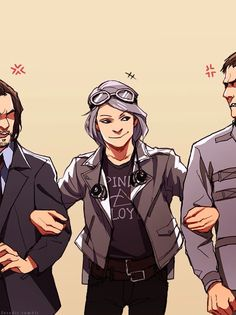 Quicksilver with Xavier and Magneto