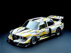 BMW ART CAR  s  1977     artist: Roy Lichtenstein    car: BMW 320i