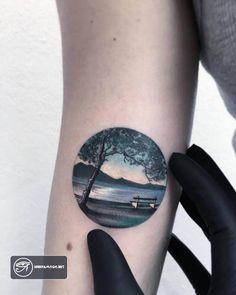 Miniature Circle Tattoos By Turkish Artist Eva Krbdk Miniature Circular Tattoo [br] Circle Tattoos, Mini Tattoos, Cute Tattoos, Beautiful Tattoos, New Tattoos, Body Art Tattoos, Small Tattoos, Tatoos, Latest Tattoos