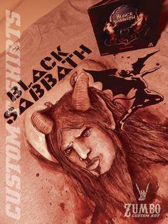 BLACK SABBATH CUSTOM T-SHIRT FAN ART