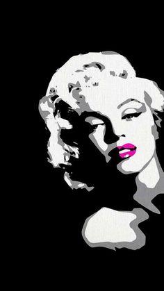 Marilyn Monroe Pop Art Black And White Andy Warhol 28 New Ideas Marilyn Monroe Pop Art, Marilyn Monroe Painting, Stencil Art, Stencils, Pop Art Dibujos, Cute Things For Girls, Pop Art Images, Art Visage, Frida Art