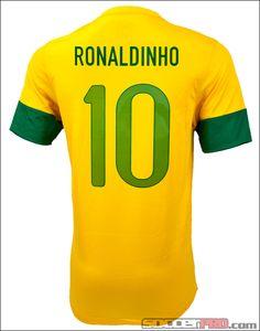 Nike Youth Brazil Ronaldinho Home Jersey 2012