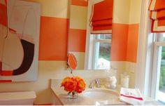 Bathroom Ideas Tile White Bathroom Design Ideas With Orange Accent ...