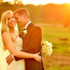 bride and groom portrait, sunset, golden hour, french, texas, backyard wedding, austin wedding photographer