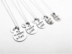 No matter what necklaces, best friends jewelry, bff necklace long distance, no matter where, personalized initial best friend set of five by RobertaValle on Etsy Bff Necklaces, Best Friend Necklaces, Best Friend Jewelry, Homemade Necklaces, Mirror Jewelry Armoire, Indian Jewellery Online, Baby Jewelry, Friends Set, Hand Stamped Necklace