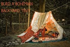 Build Your Own Bohemian Tent Out Of Blankets | 10 DIY Tips For Camping Without Leaving Home