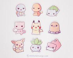 Pokemon Magnets by minkandmango on Etsy - so adorable! :)