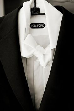 Tom Ford - white tie looks so clean.  ~gabriel