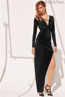 b3a6eafe10 Hedonia Wrap Thigh Split Maxi Dress Thigh Wrap