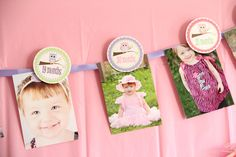 Birthday Party Banner for Photos Year at a by PartyPlanItDesigns, $16.00