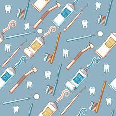 Fondo dental inconsútil libre illustration Turquoise Background, White Teeth, Free Illustrations, Royalty, Stickers, Pattern, Dental Art, Orthodontics, Dentists