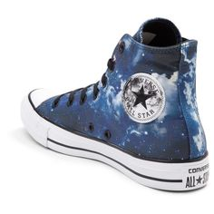 Converse Chuck Taylor All Star Hi Night Sky Sneaker ($99) ❤ liked on Polyvore featuring shoes, sneakers, lacing sneakers, grip shoes, hi tops, grip trainer and high top sneakers