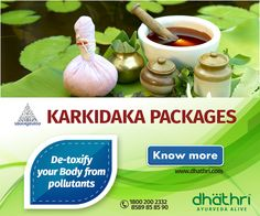 Ayurveda is India's traditional alternative therapy, which uses holistic healing methods to promote good health. And #Karkidaka is the best time to revitalize your body.  Enquire now for customized Karkidaka Packages: http://bit.ly/1Izxfx2  De-toxify your body from pollutants. Try it yourself and get refreshed for the whole year.  #Dhathri #Karkidaka