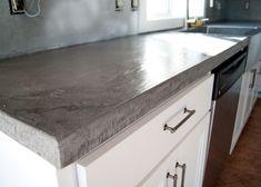 New Kitchen Diy Makeover Concrete Counter Ideas Concrete Countertops Over Laminate, Cost Of Countertops, Painting Countertops, Kitchen Countertops, Quartz Countertops, Diy Kitchen, Kitchen Decor, Kitchen Ideas, Cuisines Diy