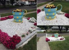 Tea Cup Tire Planter Easy DIY With Video | The WHOot