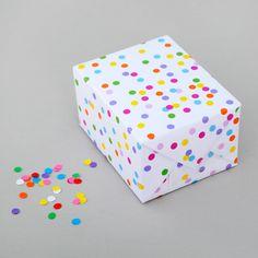 Printable confetti gift wrap