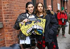 Ming Xi and Jared Leto - Street Style at New York Fashion Week Fall 2014 - Photographed by Phil Oh