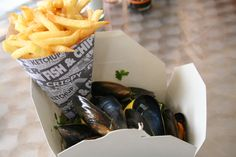 moules frites from Belgium