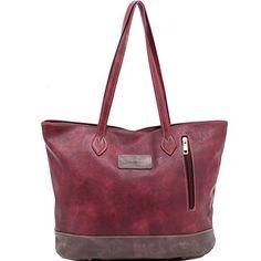 ZMSnow Womens Vintage Soft Leather Large Tote Shoulder Bag Luxury Mix Color Handbag(ZMS-NB-105,winered) - http://leather-handbags-shop.com/zmsnow-womens-vintage-soft-leather-large-tote-shoulder-bag-luxury-mix-color-handbagzms-nb-105winered/