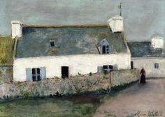 Maurice Utrillo - Farm auf L Ile d Ouessant Finistère Landscape Art, Landscape Paintings, Landscapes, Maurice Utrillo, Paris Painting, Spanish Art, Post Impressionism, Paintings I Love, Oil Paintings