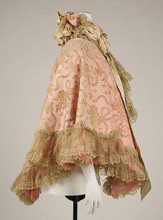 My Pompadour Isn't Listening., Opera cape, British, ca. 1898. Metropolitan Museum...