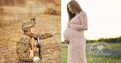 Soldier Participating In His Wife's Pregnancy Shoot From 7,000 Miles Away Is Heartwarming