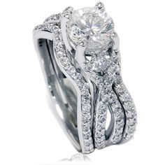 1.70CT Twist Infinity REAL Diamond Engagement Ring by Pompeii3