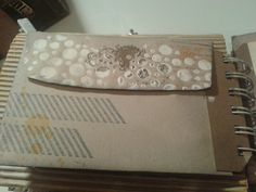 Envelope with stamping and texture paste on the flap.