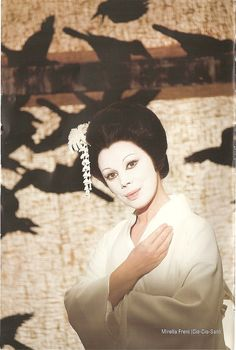 Mirella Freni as Madama Butterfly. The film is directed by Jean-Pierre Ponnelle in 1974.