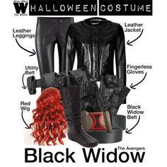 """Halloween Costume - Black Widow"" by wearwhatyouwatch on Polyvore"