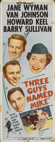 1951 Three Guys Named Mike - Jane Wyman, Van Johnson, Howard Keel, Barry Sullivan