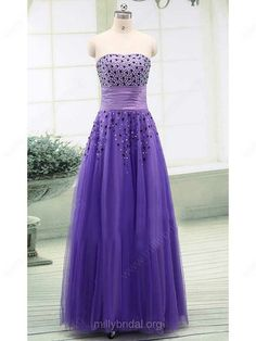 Floor-length Lavender Tulle Classic Sweetheart Crystal Detailing Prom Ball Gown #sexy #promdresses #Lavender